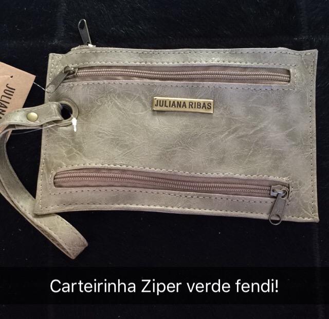 CARTEIRINHA ZIPER VERDE FENDI (CÓDIGO: CA06VF)