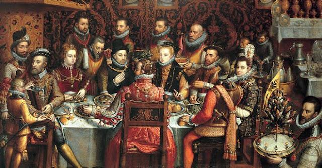 """Felipe II en """"el banquete de los Monarcas"""". Claudio Coello"""