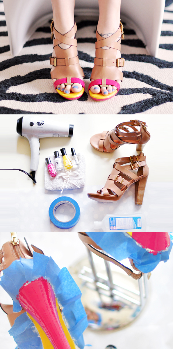 Maiko nagao diy neon shoes with nail polish by love maegan for Diy shoes with nail polish