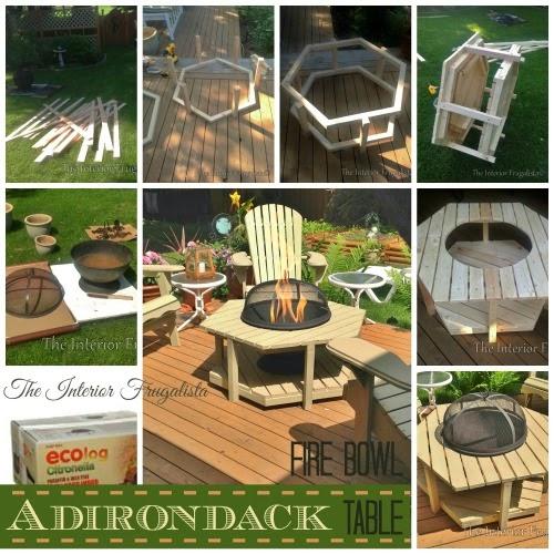 DIY Fire Bowl Table - an alternative to a backyard firepit.