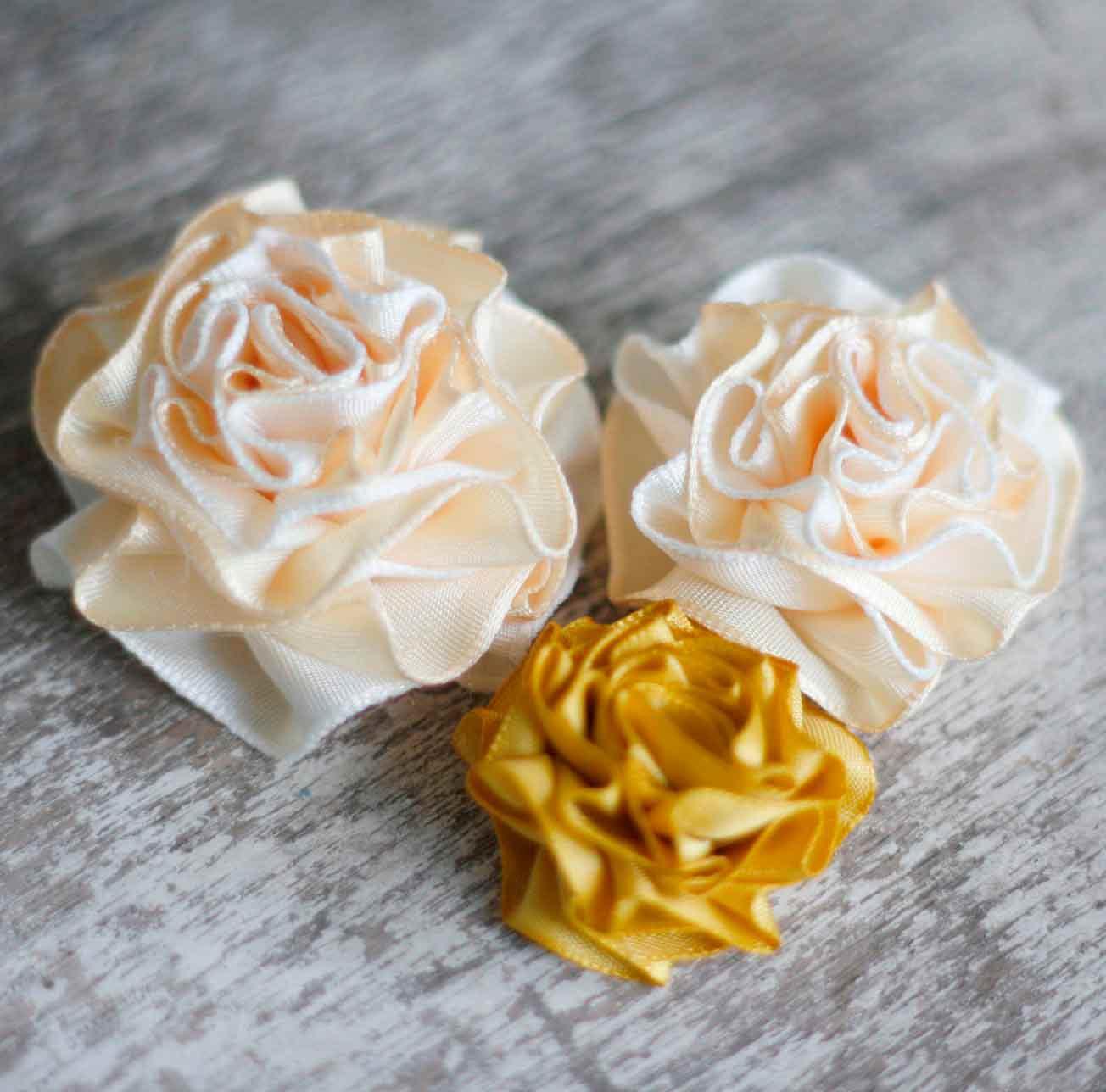 Fabric Flower Bouquet Tutorial - comousar