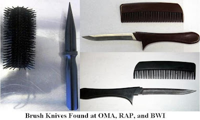 A dagger concealed in a hairbrush was discovered at Rapid City (RAP).