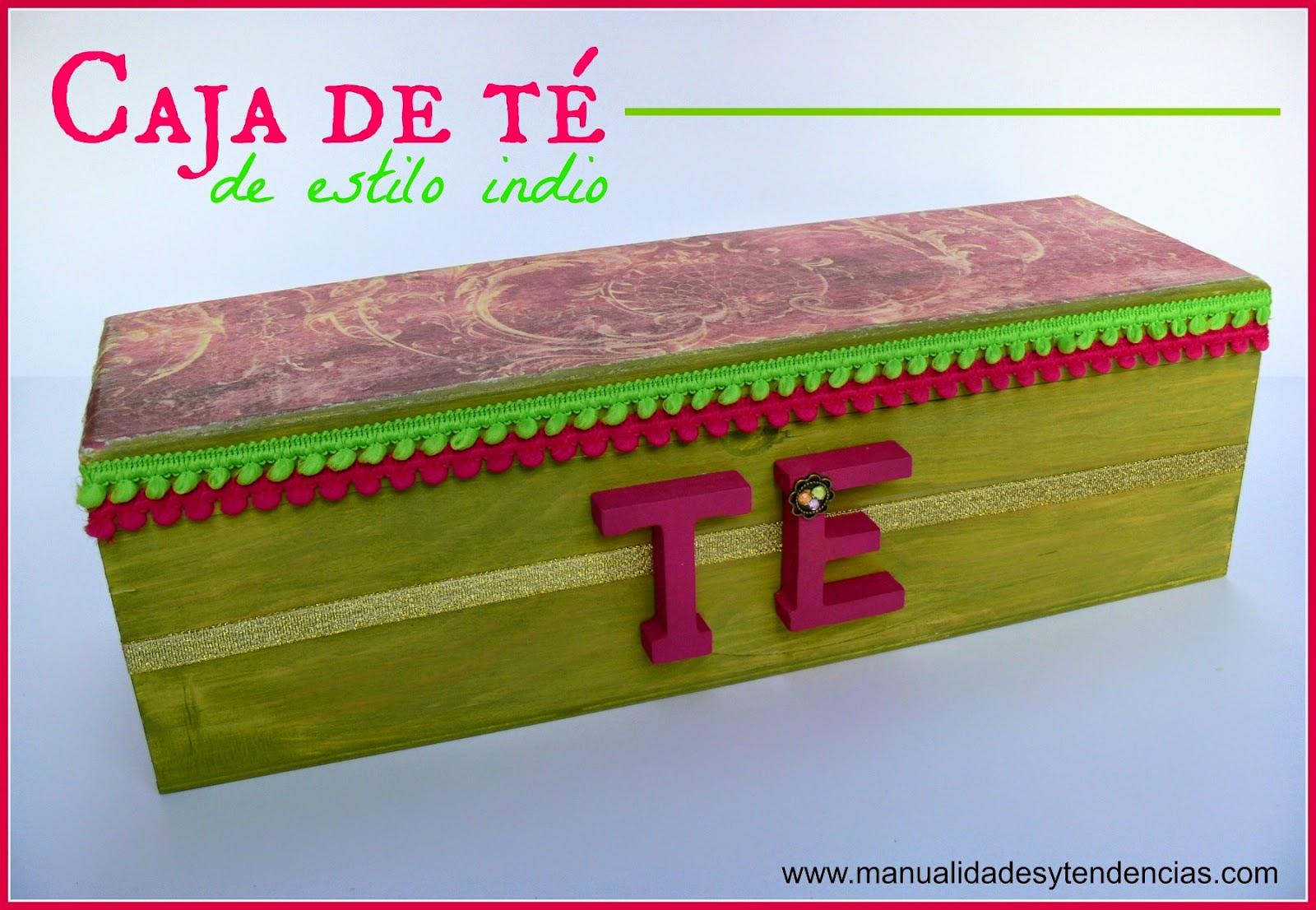 Tutorial decorar caja de té de madera