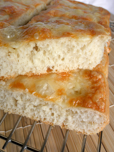 Focaccia with asiago cheese