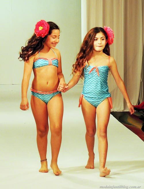 trajes de baño niñas verano 2014