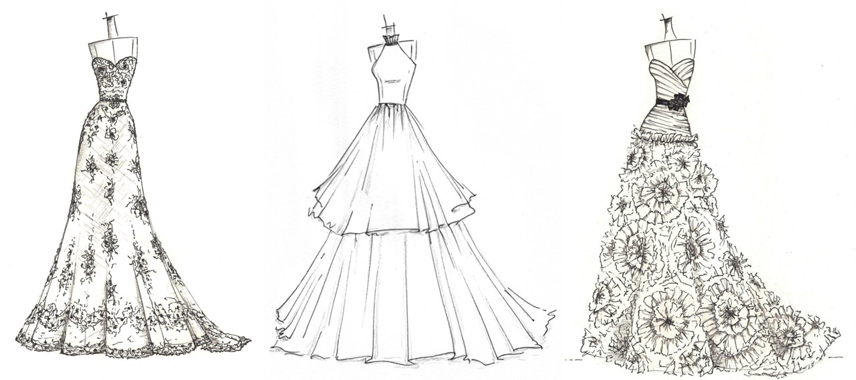 Shop for wedding dress sketch on etsy the place to express your