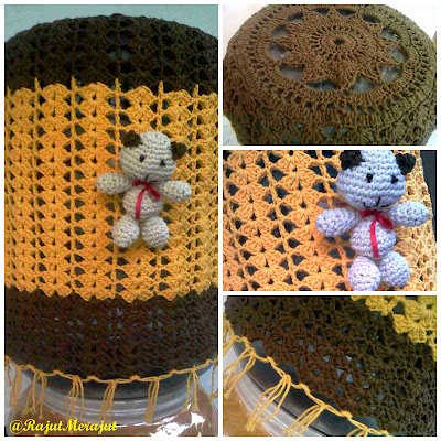 Tutup Galon Rajut, crochet water galoon