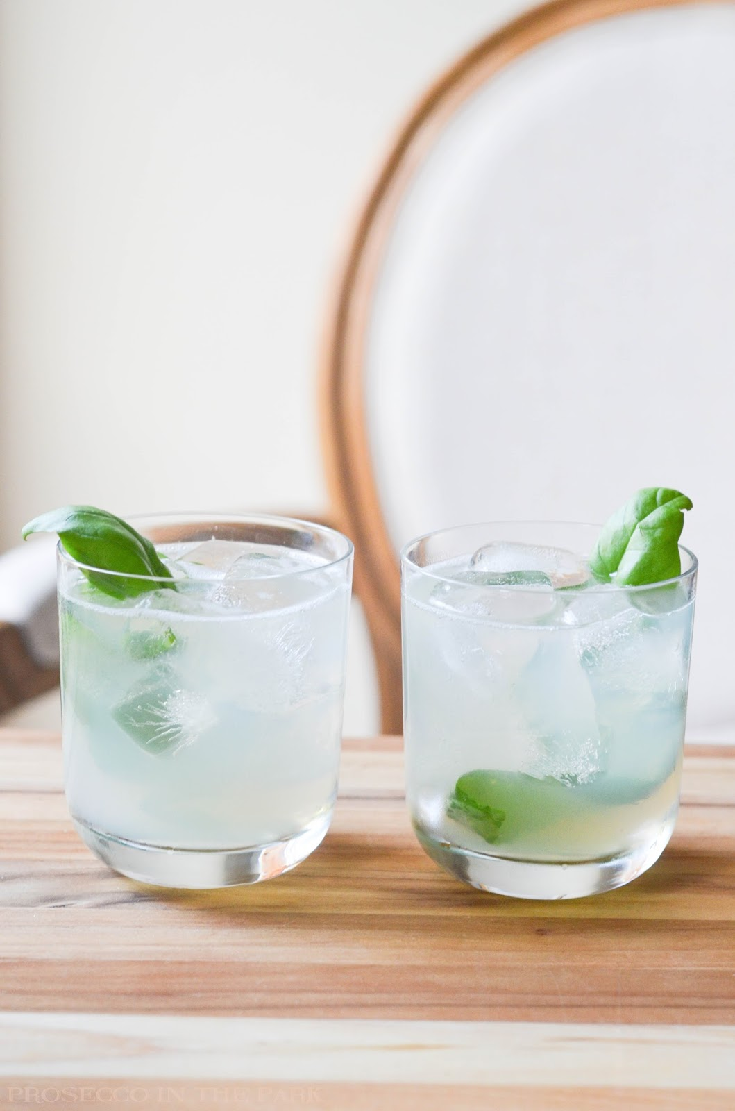 basil gin sour | prosecco in the park