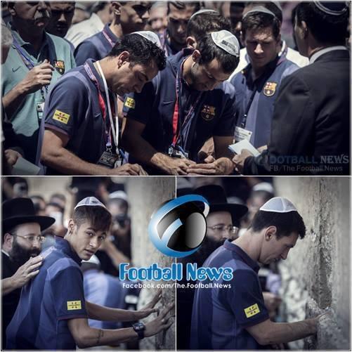 Lionel Messi dan Neymar Yahudi Israel