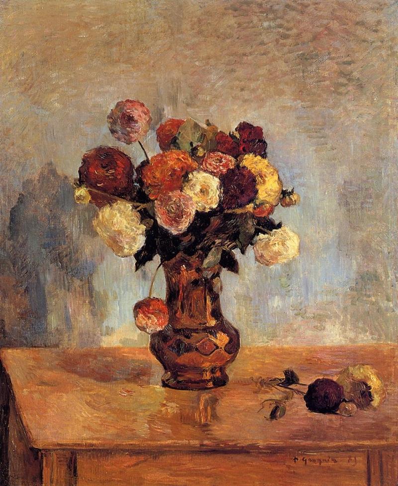 Paul gauguin post impressionist painter still life for Bouquet de fleurs nature