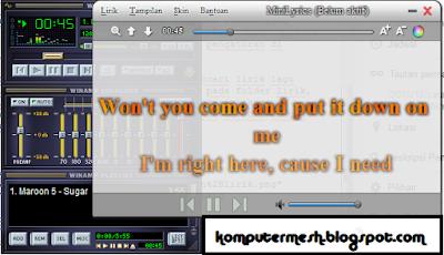 Cara Mencari Lirik Lagu di Minilyrics