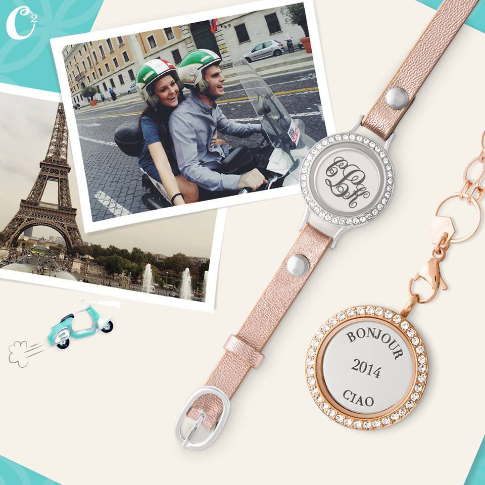 Travel Memories with Inscriptions by Origami Owl available at StoriedCharms.com