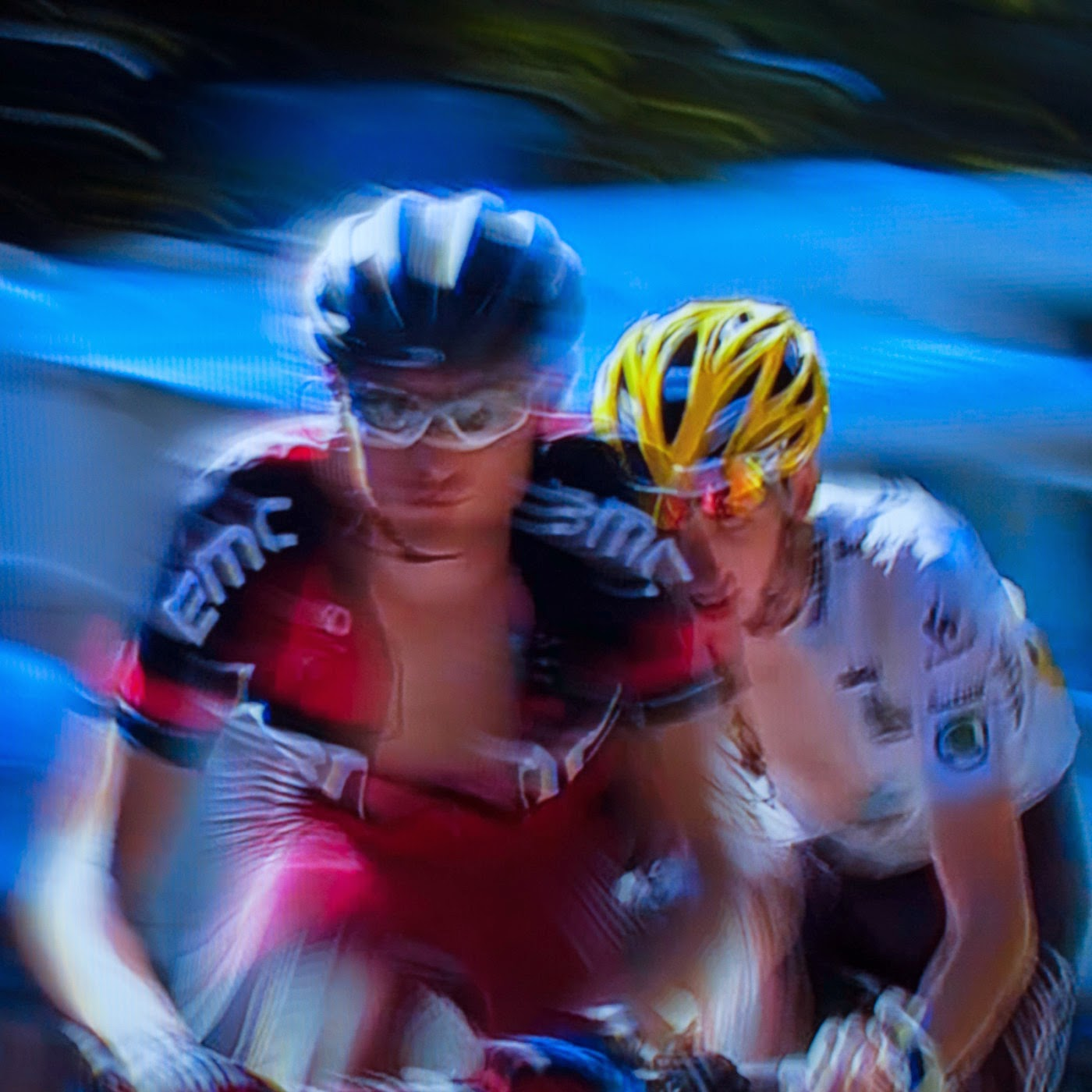 le tour, motion blur, blur, abstract, abstraction, tim macauley, photographic art, you won't see this at MoMA, appropriation, found imagery, le tour 2014, tv footage, portrait, team BMC Racing