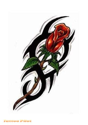 rose tattoos designs. flower tattoo designs are