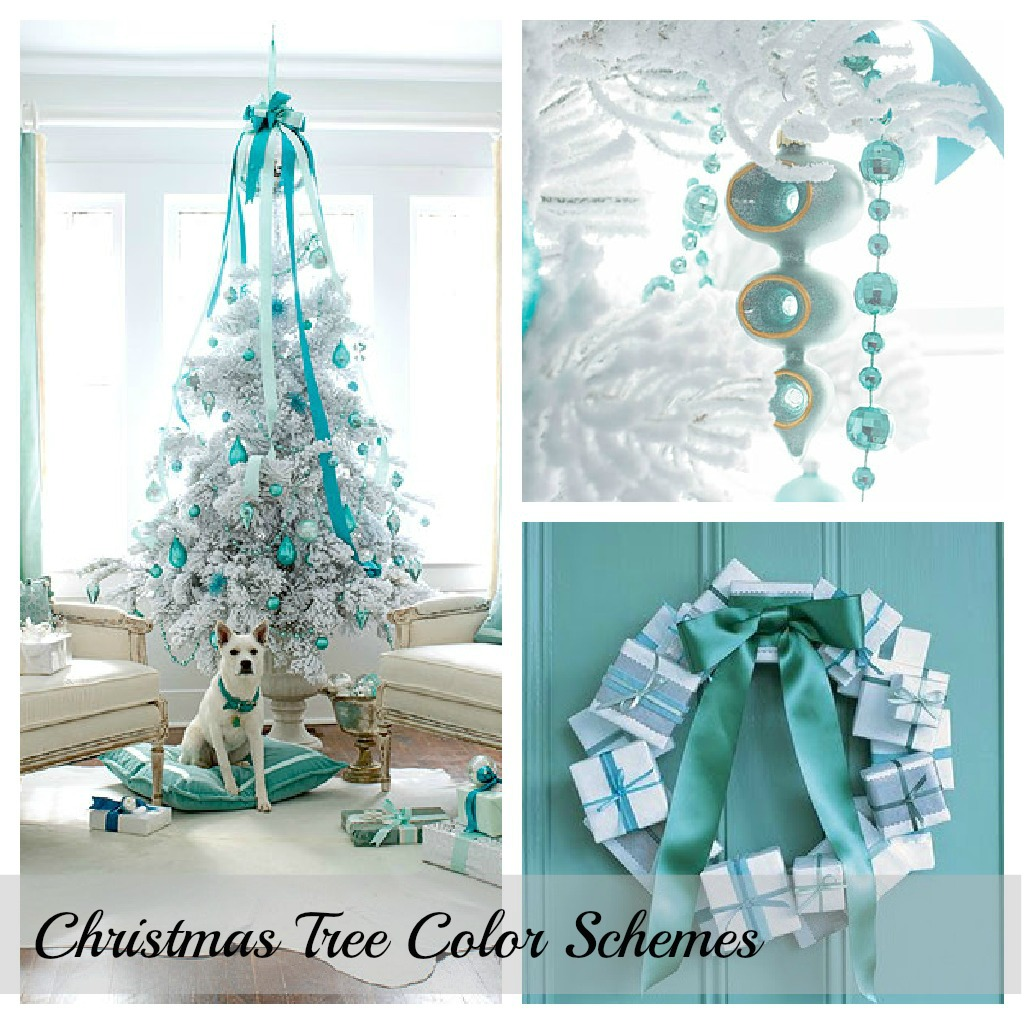 blue christmas color scheme with chip it setting for four