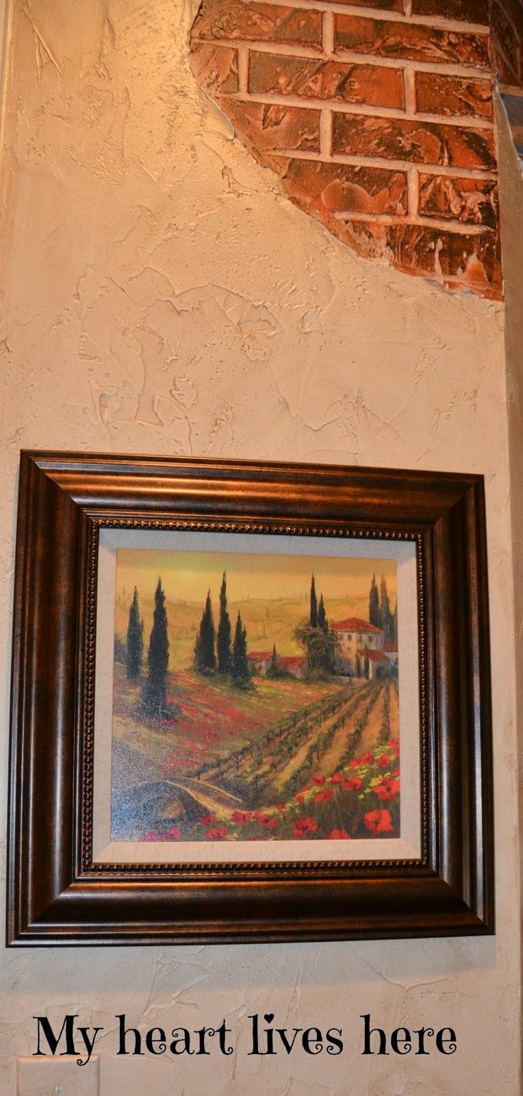 Hang Painting Brick Wall
