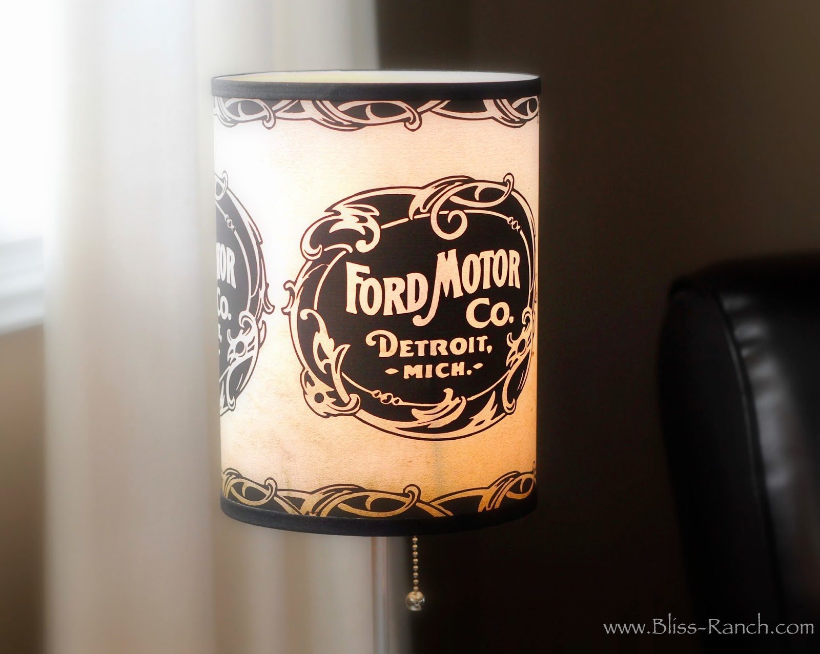 Ford Lamp in a box, Bliss-Ranch.com