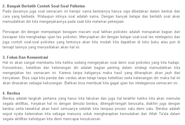 Soal Psikotest Contoh Soal Tes Psikotes Download Soal Newhairstylesformen2014 Com