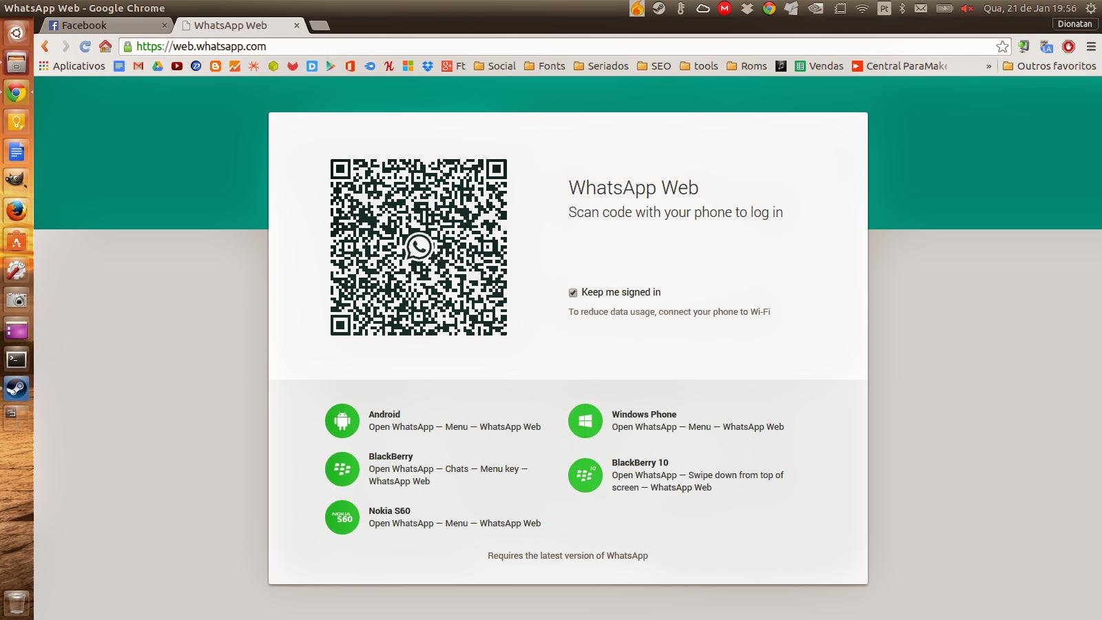Acessando o WhatsApp pela web