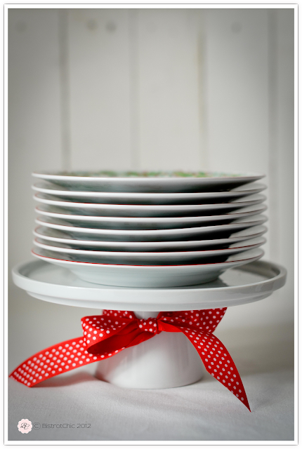 Dishes in a cake stand from BistrotChic