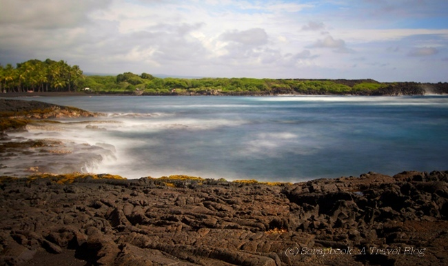 Hawaii Punaluu Black sand beach Kona Coast