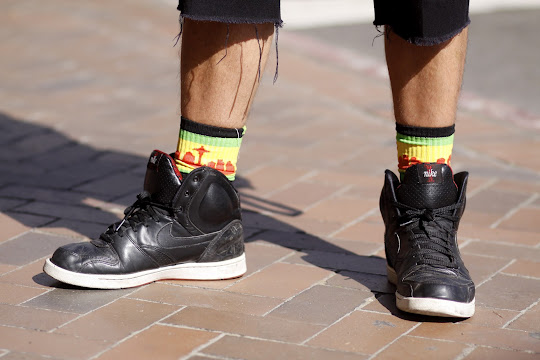 Nike High Tops Colorful socks seattle Street style