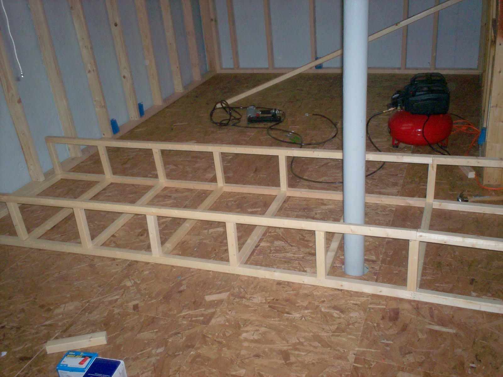 2x2 to construct a frame for a soffit we had to stick build it on the