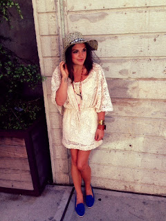 fashion girls new york, fashionistas new york, alexander mcqueen jewelry, alexander mcq gold bracelet, razor blade jewelry bracelet, alexander mcq razor necklace accessories, leather cuffs wristband, those kinds of girls, tan cream off white lace crochet dress, crochet top, dress, free people dress, hippie dress, seventies inspired dress, boho, bohemian dress outfit, Colombian hat, black and white hat, Panama style hat, new york city streetstyle, soho in new York city, soho style nyc, david burke kitchen, dv loafers, dolce vita blue macao loafers, smoking slippers, bright loafers tassles, blue flat shoes, blue suede shoes, neon loafers smoking flats