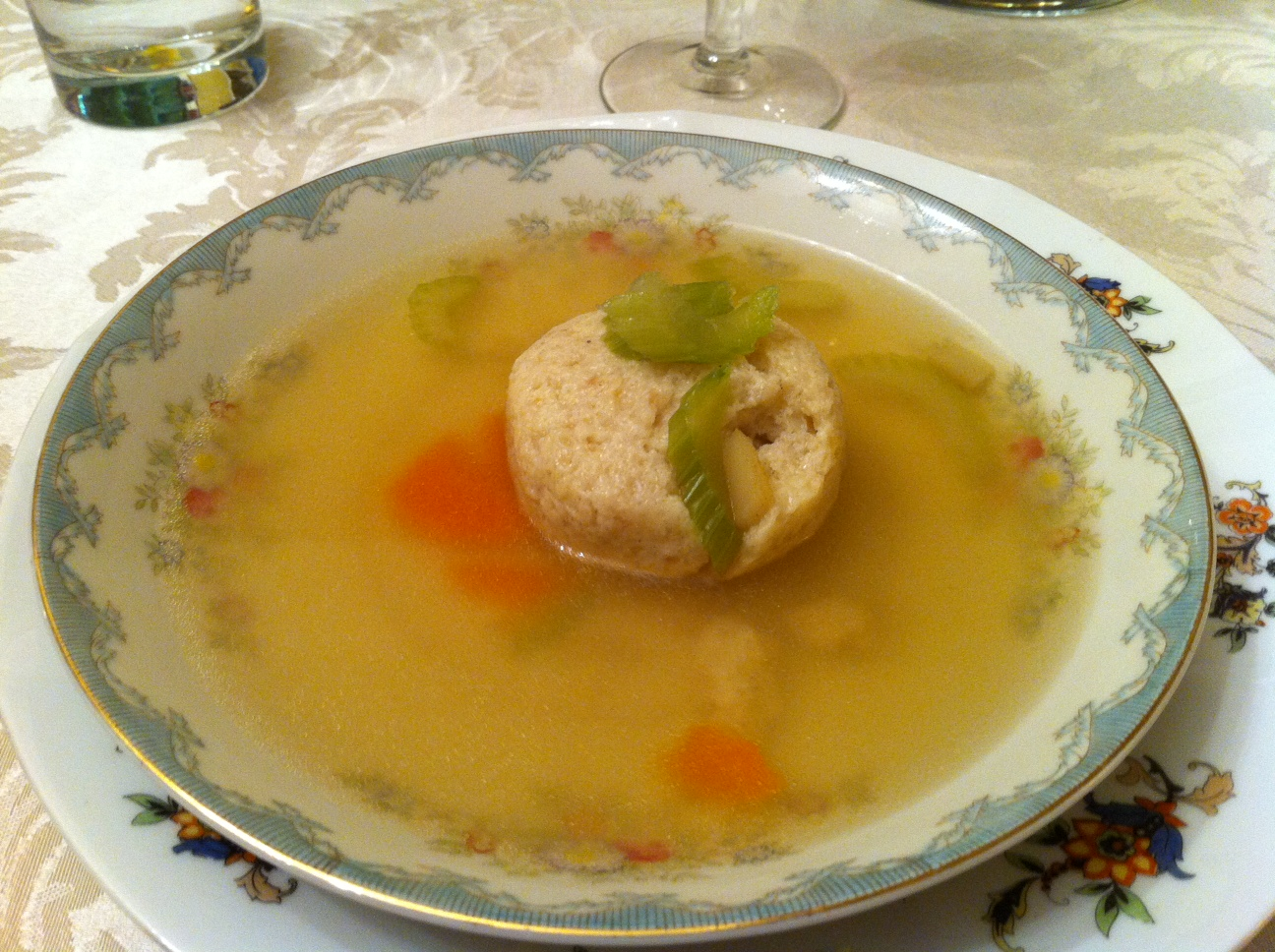 Matzo ball soup!!!! I want to eat this every day.