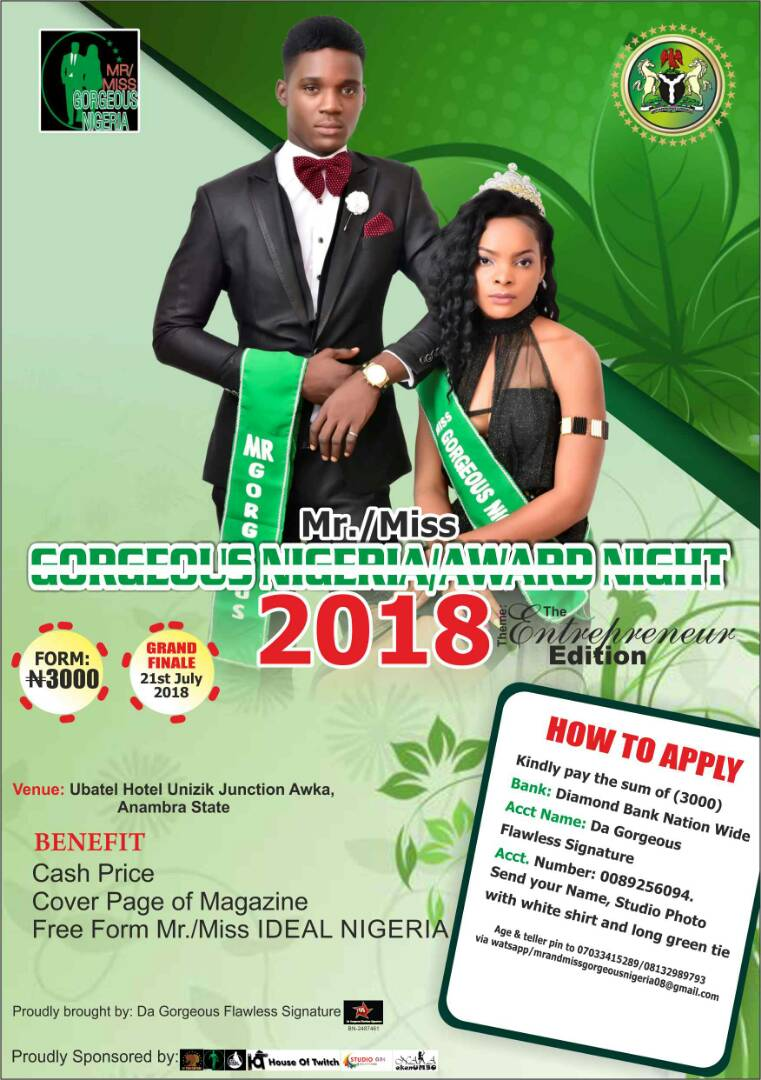Mr/Miss GORGEOUS NIGERIA /AWARD NIGHT