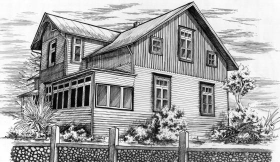Dibujo de una casa antigua imagui - Casas dibujadas a lapiz ...