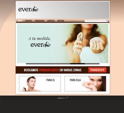 web diseño perfume franquicia