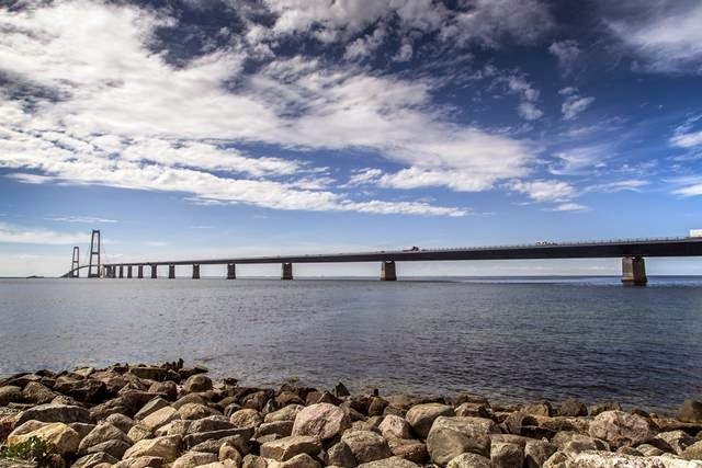 Denmark. The Great Belt Bridge. The main span - 1624 m.