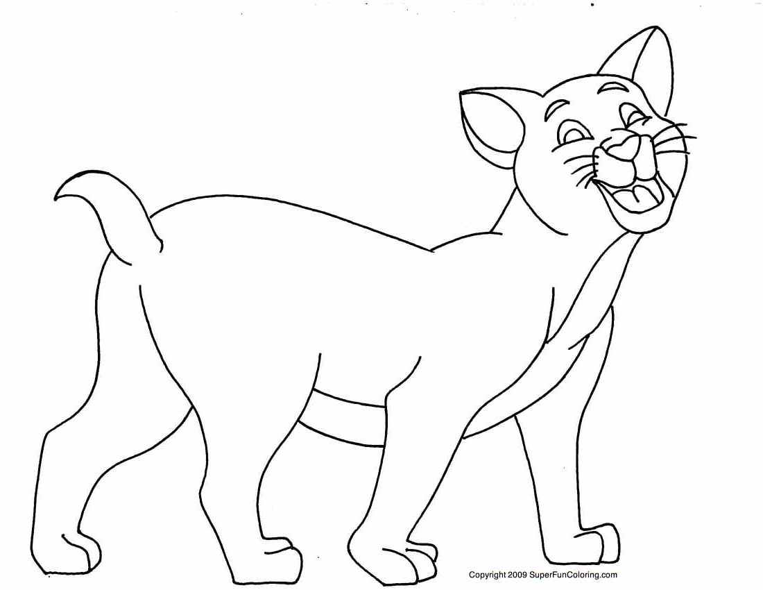 Cats coloring pages for kids learning identifying colors for Cat coloring pages for toddlers
