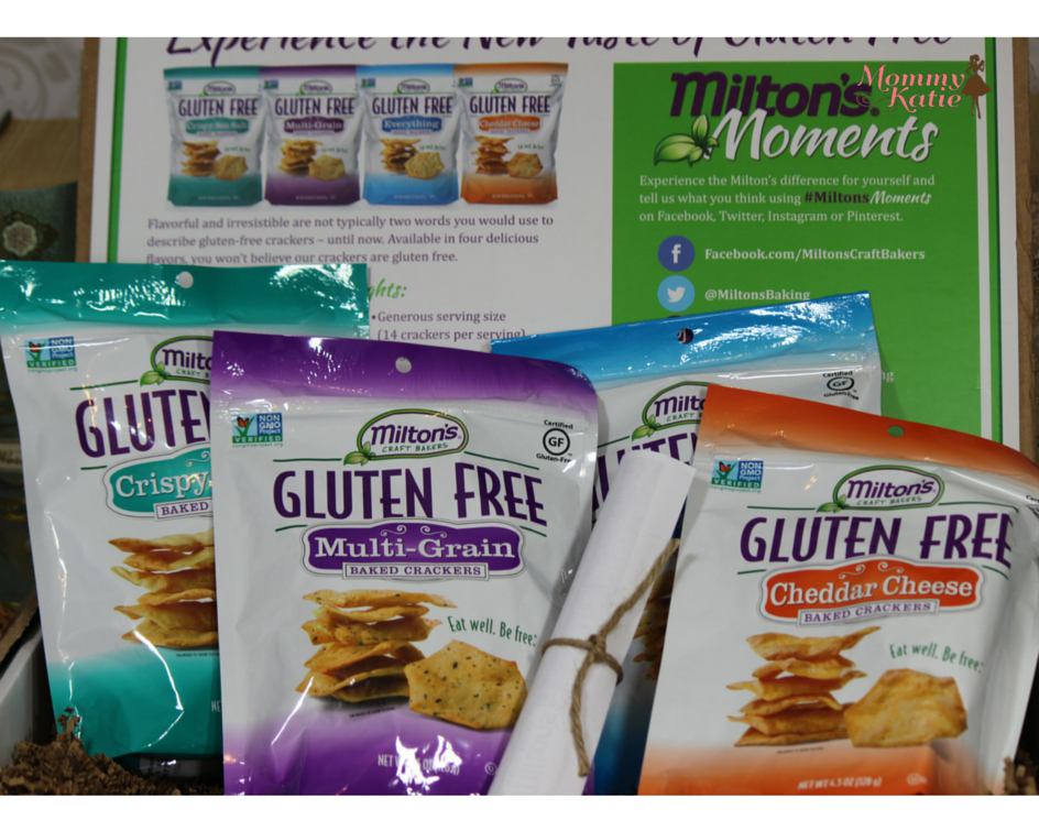 Mommy Katie: #Giveaway Milton's Gluten Free Baked Crackers