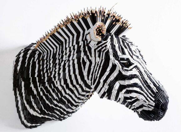 Federico Uribe esculturas lápis Zebra
