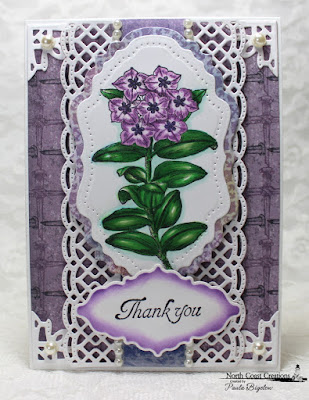 North Coast Creations Stamp sets: Floral Sentiments 7, Our Daily Bread Designs Custom Dies: Vintage Flourish Pattern, Vintage Labels, Beautiful Borders, Ornate Borders and Flower, ODBD Christian Faith Paper Collection