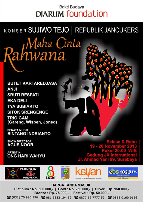 "Konser Sujiwo Tejo | Republik Jancukers ""Maha Cinta Rahwana"""