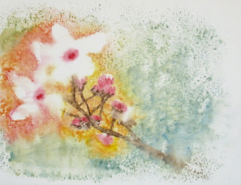 cherry tree drawing in blossom. cherry tree drawing in lossom
