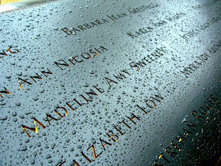 Madeline Amy Sweeney's name on the 9/11 Memorial