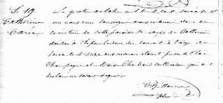 Catherine Carre burial record 1861