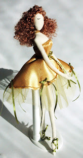Балерина Злата. Текстильная кукла тряпиенс.