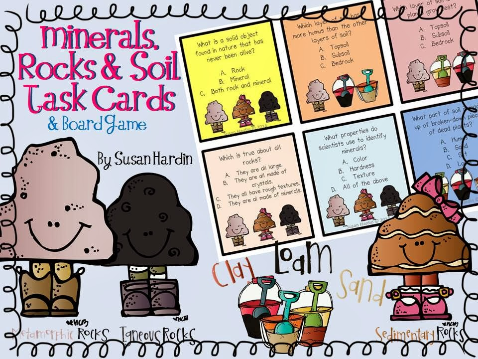 http://www.teacherspayteachers.com/Product/Minerals-Rocks-Soil-Task-Cards-and-Board-Game-1135351