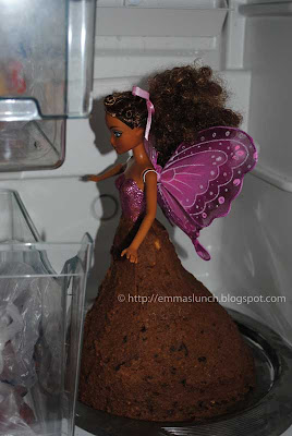 Fairy Cake before glaze in fridge