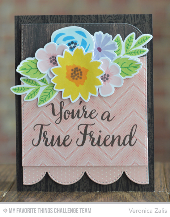 True Friend Card from Veronica Zalis featuring the Modern Blooms stamp set and Die-namics and True Friends stamp set