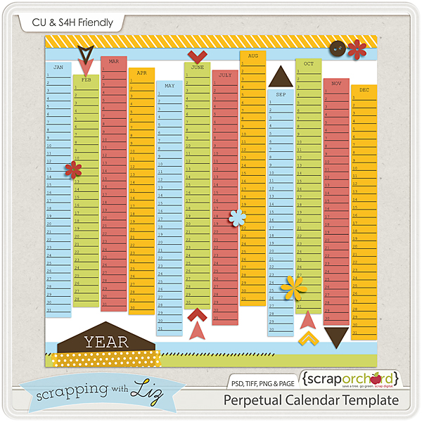 Scrapping With Liz Photo Mats And Calendar Templates