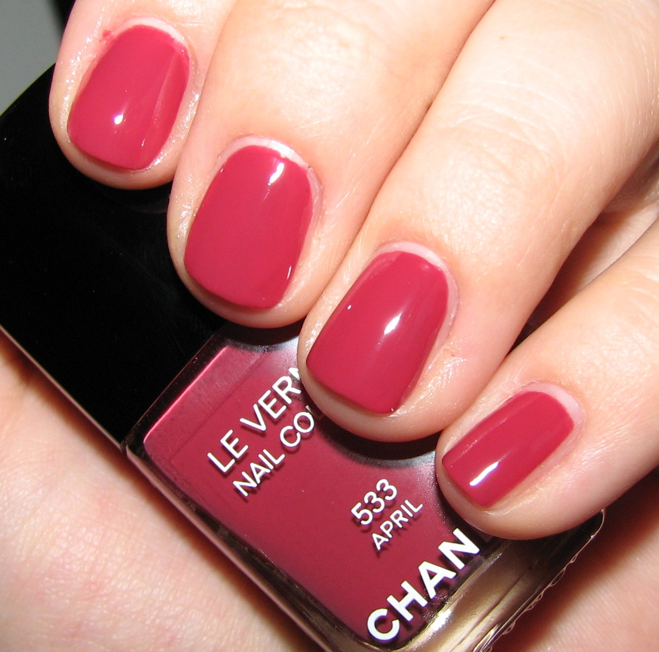 Vernis Nail: Chanel APRIL 533 Le Vernis Nail Colour Swatches And Review