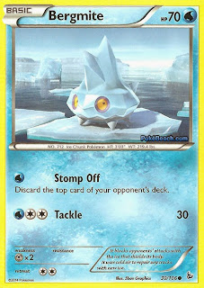 Bergmite Flashfire Pokemon Card