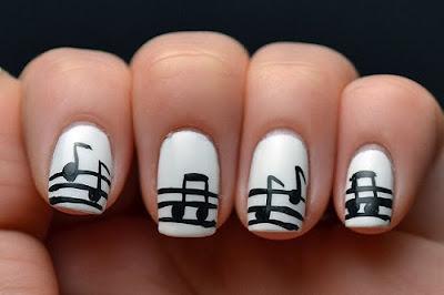 Musical Nail Art Designs