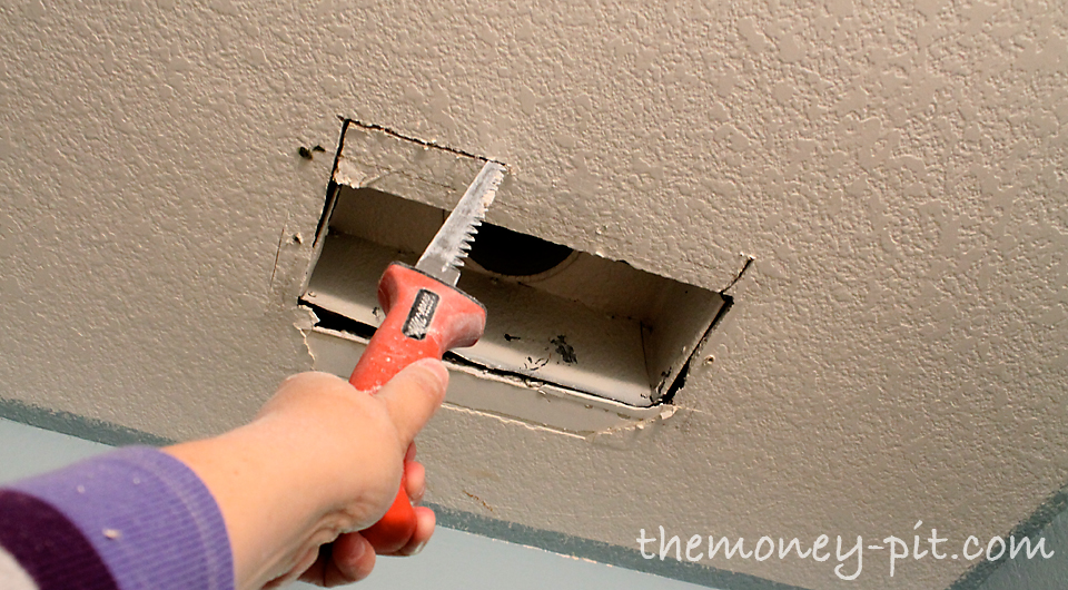 how to cut drywall around pipes